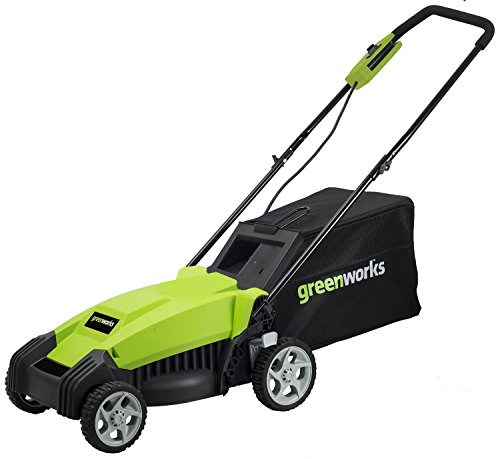 Greenworks Mo14b00 9 Amp 14 Inch Corded Lawn Mower