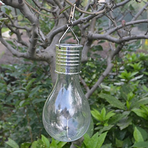 Yellow Outdoor Led Light Bulbs: LED Colored Light Bulb Outdoor Solar Energy Courtyard Lawn